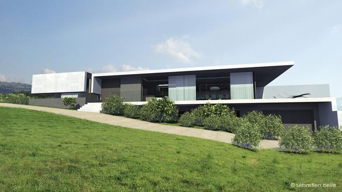 Photo de belle maison contemporaine - Belle maison moderne ...