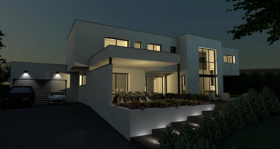 Favori photo de belle maison contemporaine tendance GO72