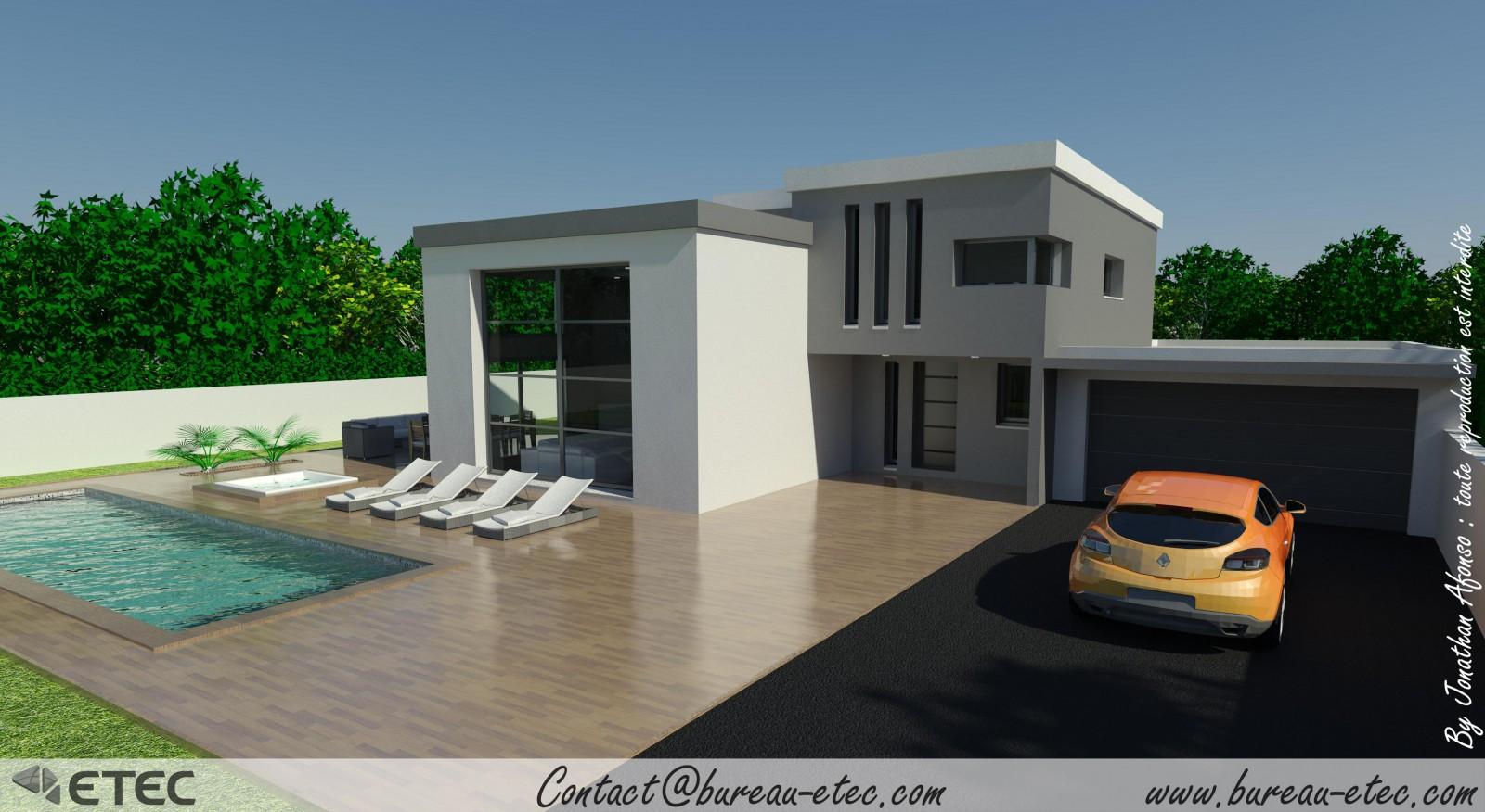 Photo de maison contemporaine a toit plat for Inspiration maison