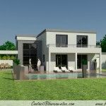 photo de maison contemporaine a toit plat