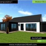 photo de maison d'architecte plain pied