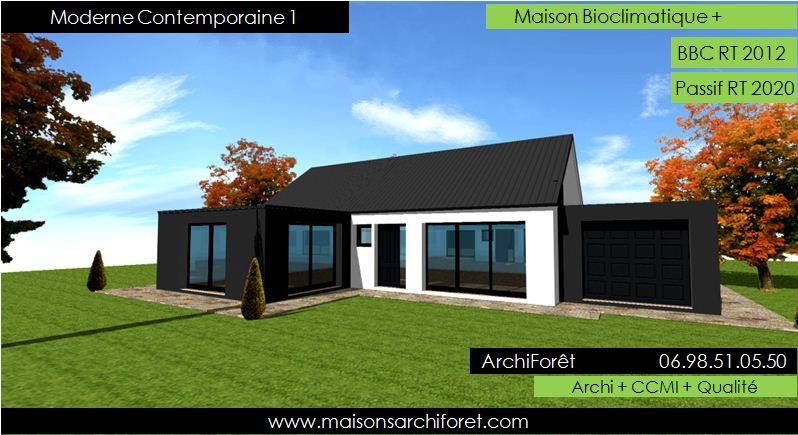 Photo de maison d architecte plain pied for Idee maison plain pied