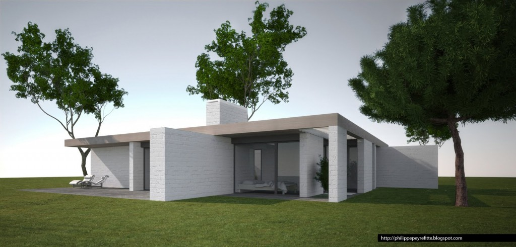 Exemple photo de maison d 39 architecte plain pied for Casas de planta baja modernas