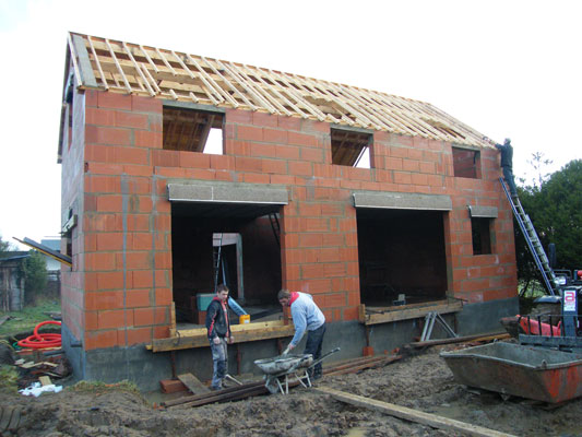 Photo de maison en construction for Construction de maison de niveau
