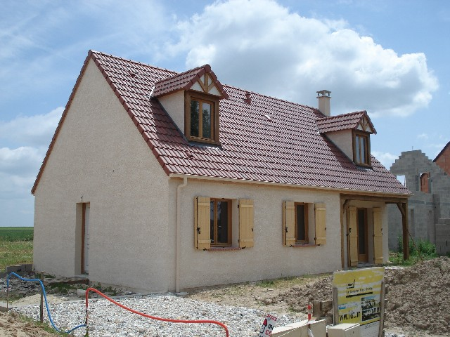 Photo de maison en construction for Construction de maison 77