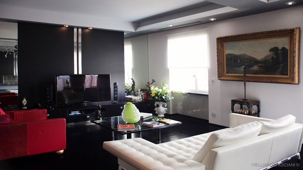 photo interieur de maison contemporaine. Black Bedroom Furniture Sets. Home Design Ideas