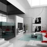 photo interieur de maison moderne