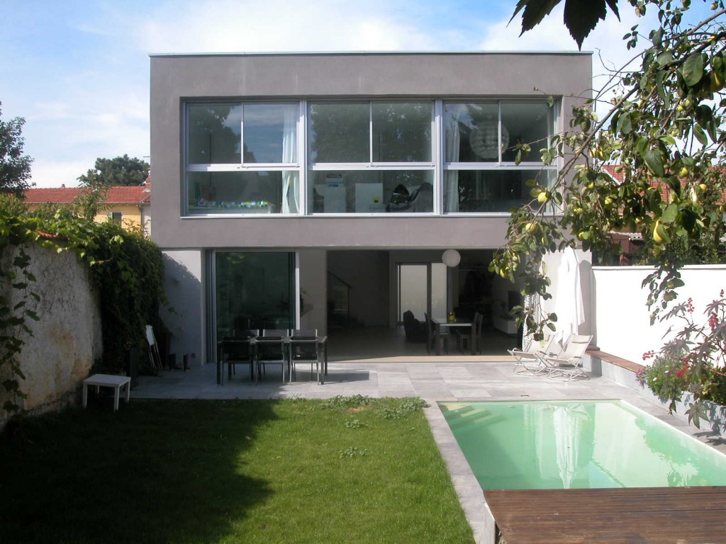 Photo maison contemporaine architecte tendance - Architecte maison moderne contemporaine ...