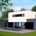 photo maison contemporaine en u
