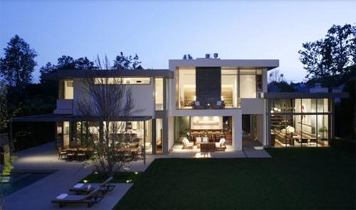 belle photo maison moderne exterieur