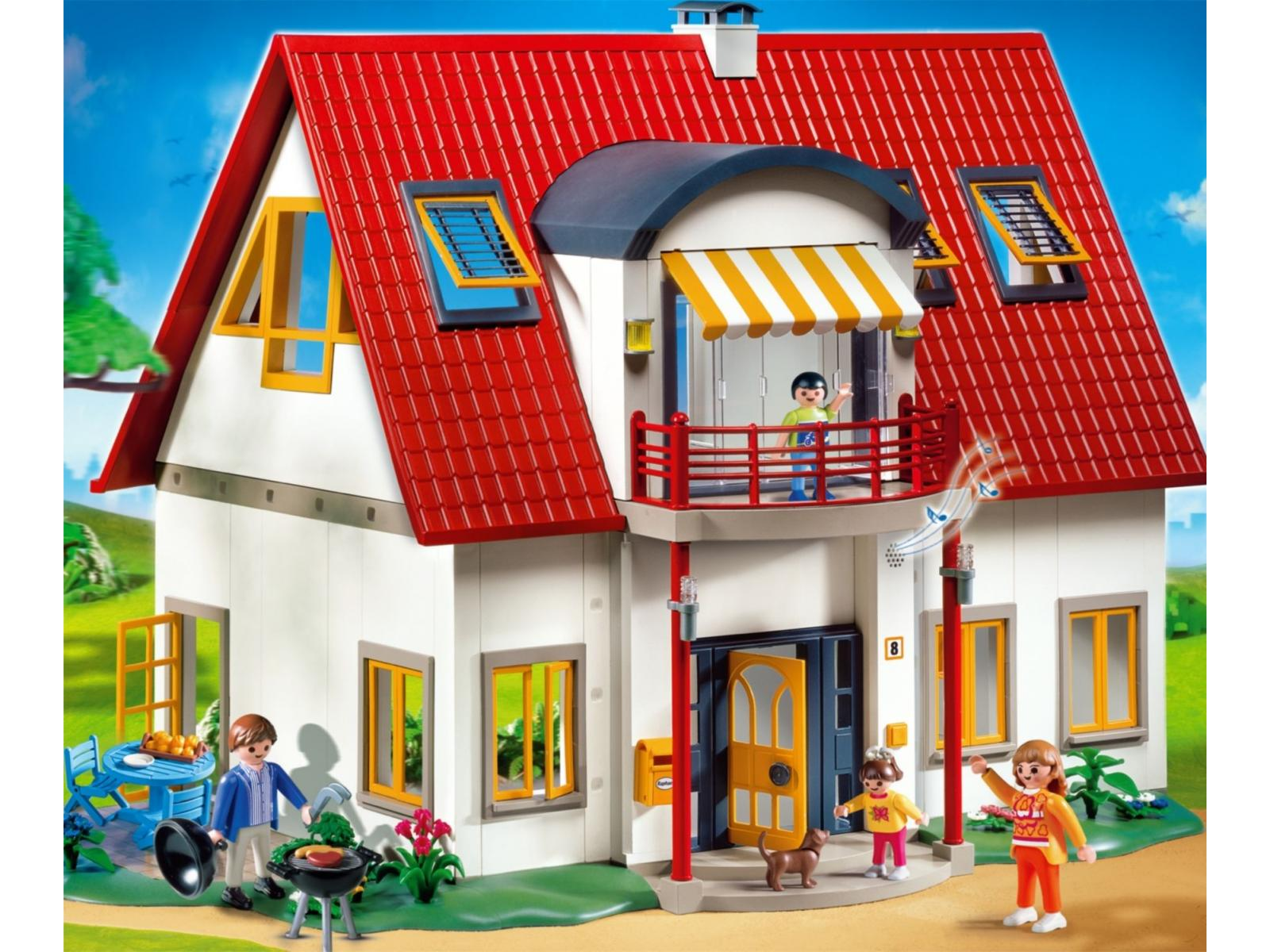 Photo maison moderne playmobil