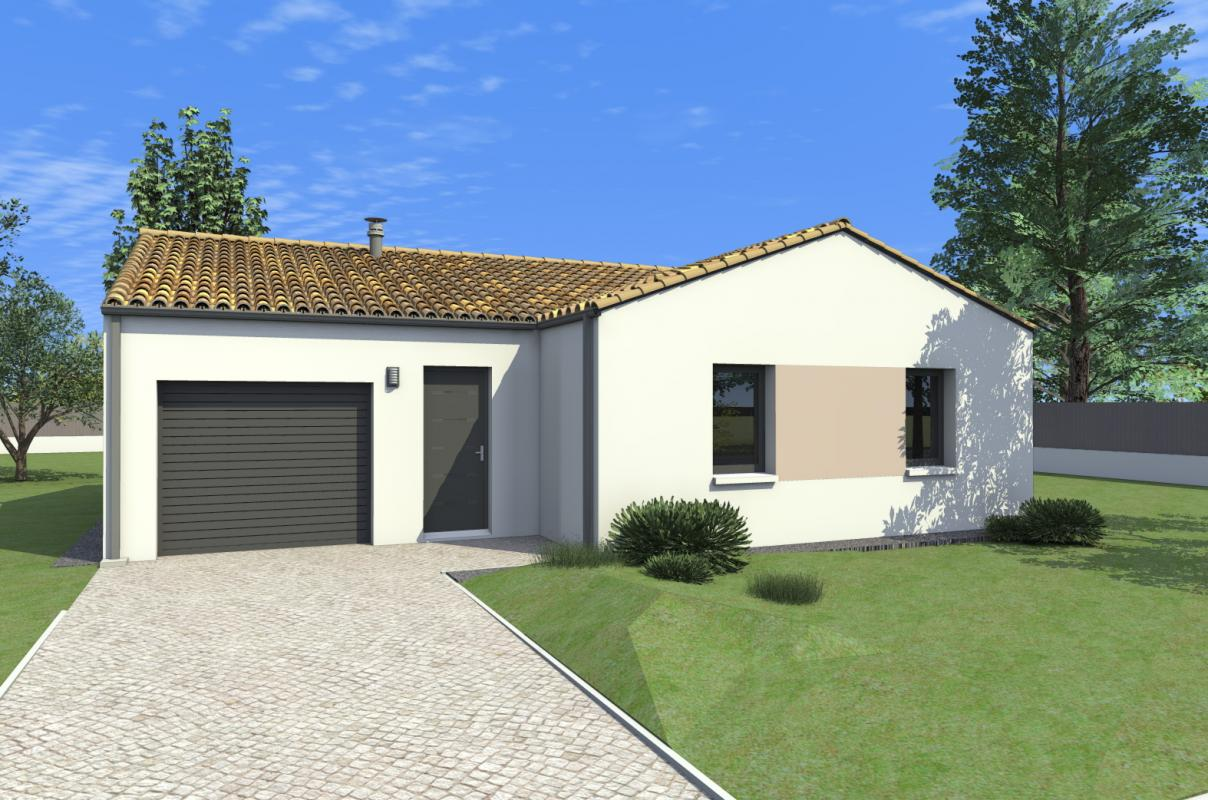 Photo maison neuve bretagne for Plan de maison 90m2