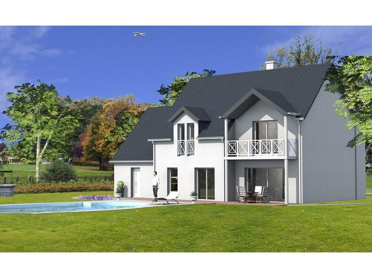 Beautiful best photo maison neuve bretagne with modele de for Prix d une maison neuve