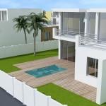 photos de maison moderne avec piscine