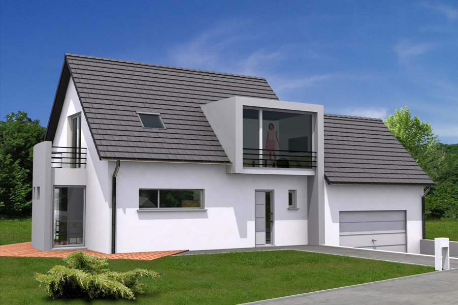 Photos de maisons modernes neuves for Exemple de maison moderne