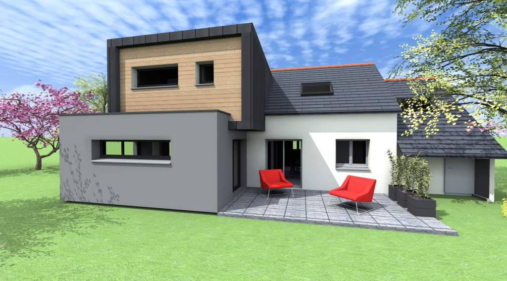 Exemple photos facades de maisons modernes for Facades exterieures de maison