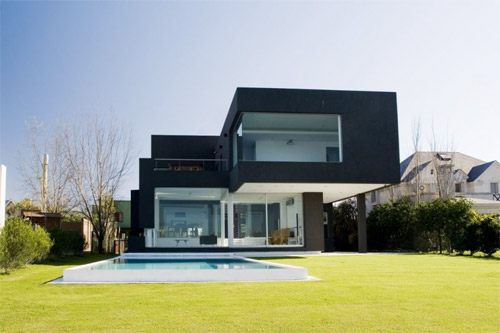 Photos maison d architecte contemporaine for Maison moderne noir