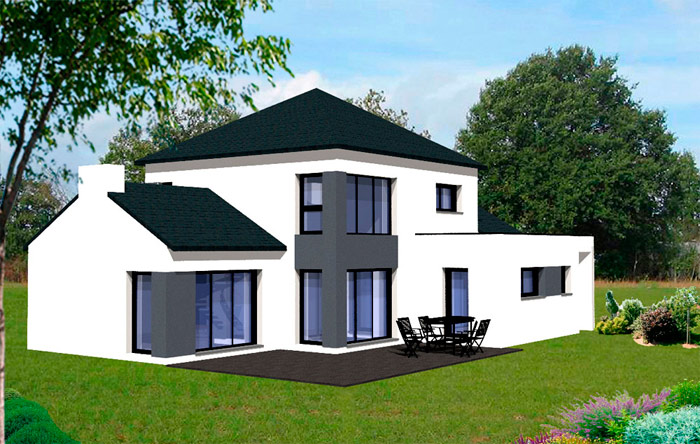 Photos maisons contemporaines bretagne for Belles maisons contemporaines