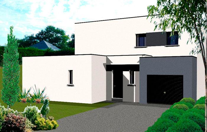 Photos maisons contemporaines bretagne - Plan de maison bretonne ...