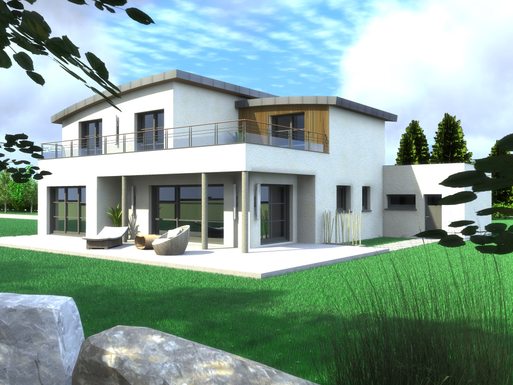 Maisons contemporaines bretagne tendance for Extension contemporaine maison traditionnelle