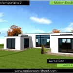 photos maisons contemporaines plain pied