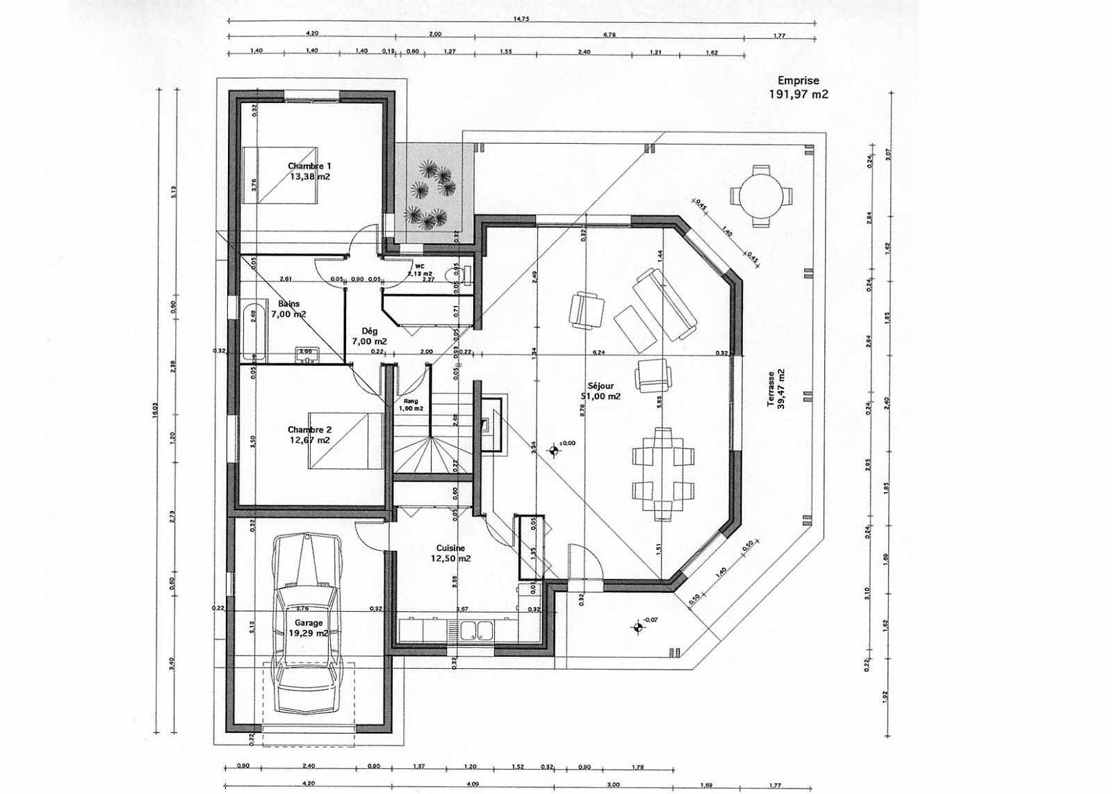 Plans et photos de maisons modernes for Plan maison tunisie