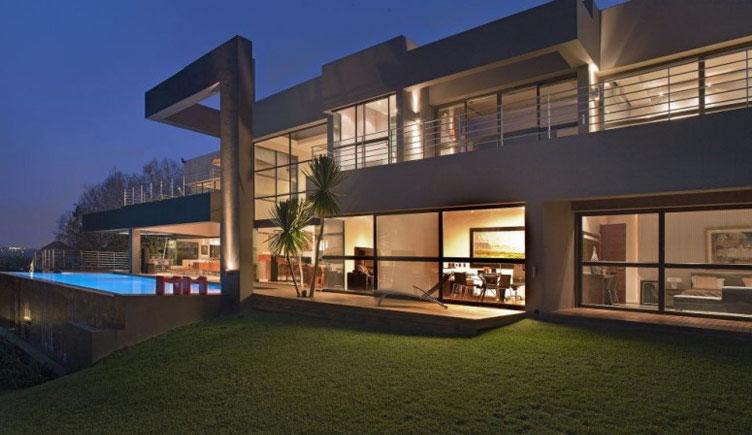 maison en bois de r ve toit plat. Black Bedroom Furniture Sets. Home Design Ideas