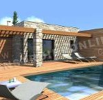 maison en kit avec piscine toit plat