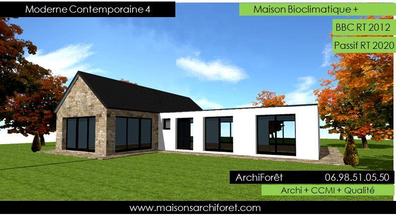 maison en pierre moderne toit plat. Black Bedroom Furniture Sets. Home Design Ideas