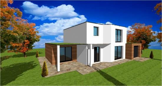 Maison en pierre moderne toit plat for Modele maison toit plat