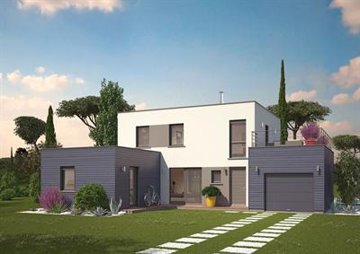 Jolie maison en pierre moderne toit plat for Jolie maison moderne
