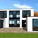 maison neuve d'architecte toit plat