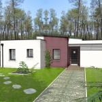 maison originale d'architecte toit plat