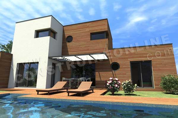 Photo de maison avec piscine toit plat for Construire online
