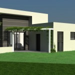 photo de maison contemporaine toit plat