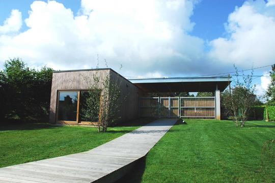 de maison de star d'architecte toit plat tendance