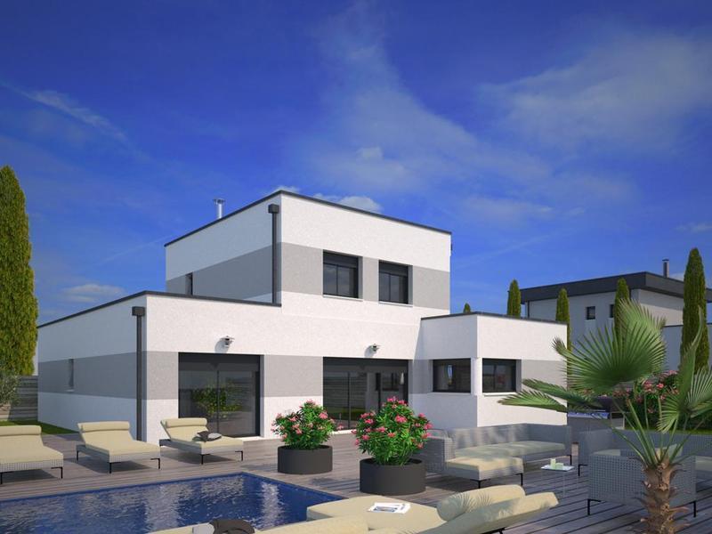 de maison neuve contemporaine toit plat construction. Black Bedroom Furniture Sets. Home Design Ideas