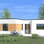photo de maison originale contemporaine toit plat