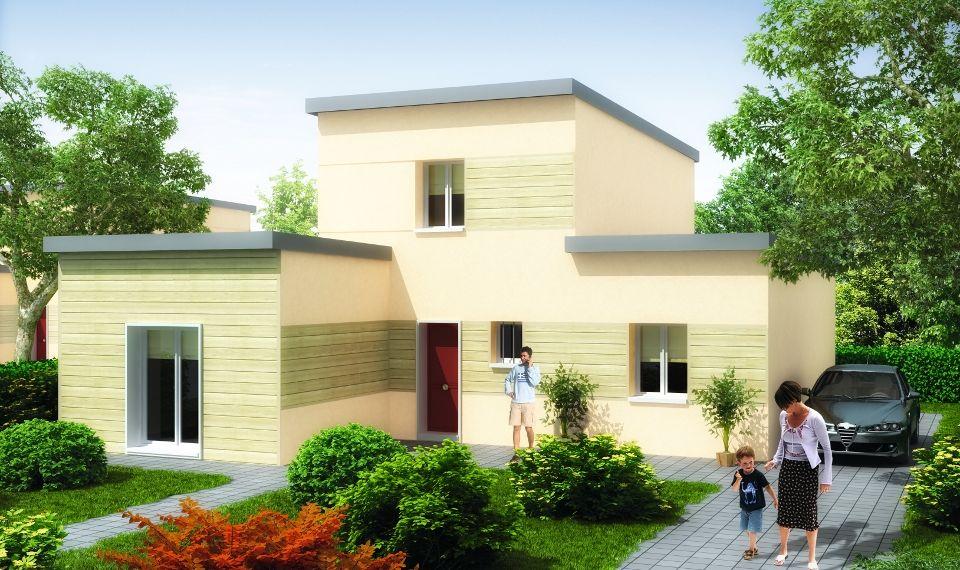 latest exemple photo de maison originale toit plat with. Black Bedroom Furniture Sets. Home Design Ideas