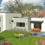 maison avec piscine toit plat