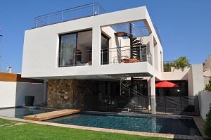 Maison d architecte toit plat for Modele de maison a toit plat