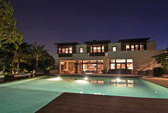 maison de star avec piscine Matt Damon's