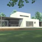 maison de ville d'architecte toit plat