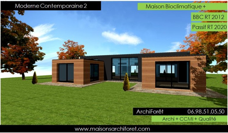 Maison en kit d architecte toit plat for Modele de maison contemporaine architecte
