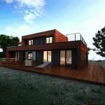 maison en kit moderne toit plat
