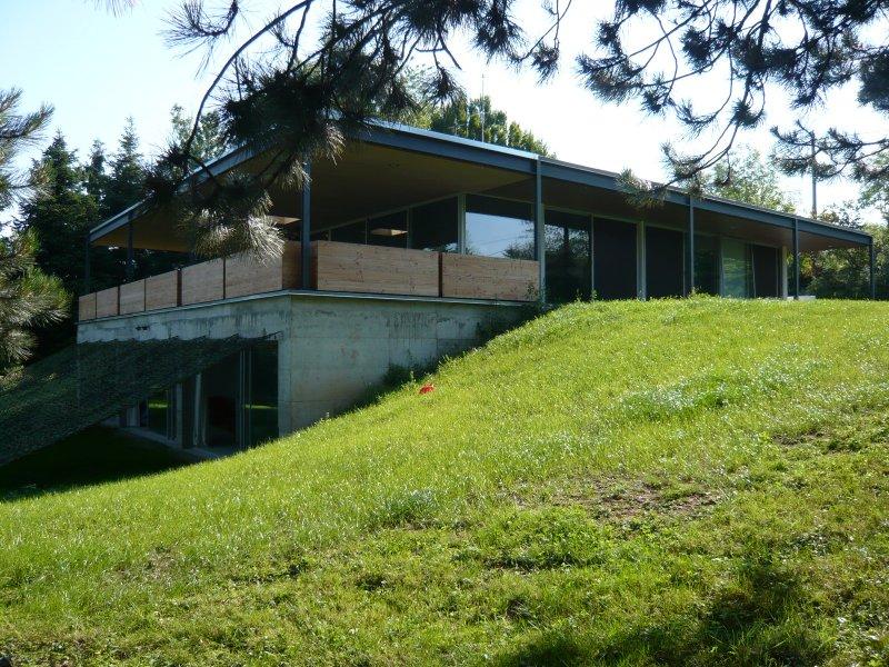 exemple maison en pierre d\'architecte toit plat