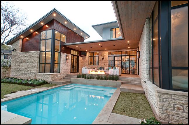 Maison neuve avec piscine for Photo maison avec piscine