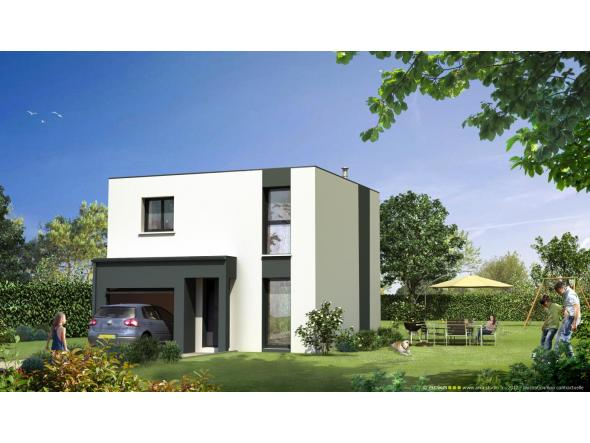 Maison neuve toit plat for Photo maison contemporaine toit plat