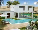 maison provencale moderne toit plat