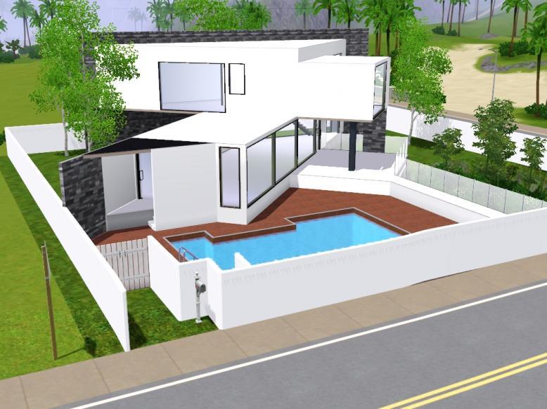 Photo de maison de star moderne for Sims 3 cuisine moderne